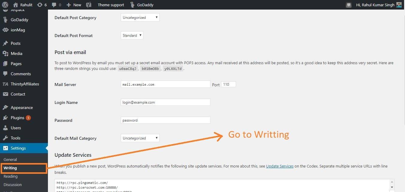 wordpress writing