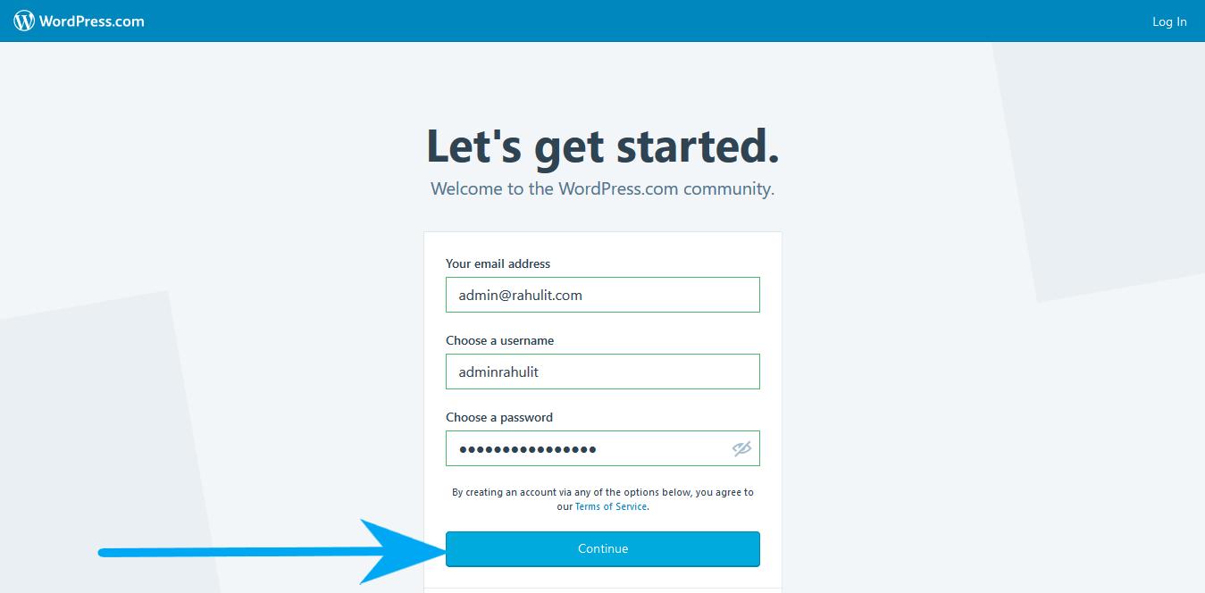 How to Create a WordPress Account